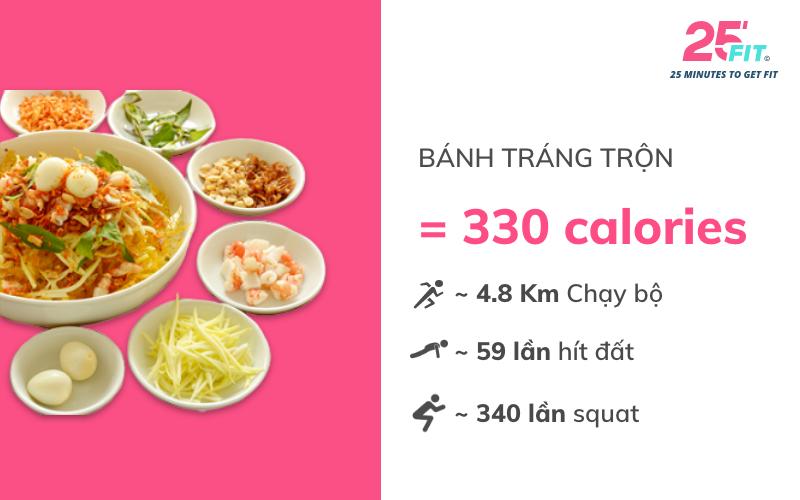 calories banh trang