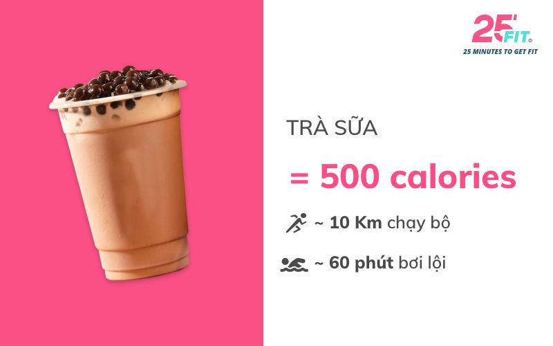 calories tra sua