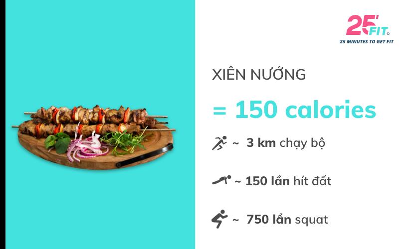 calories xien nuong