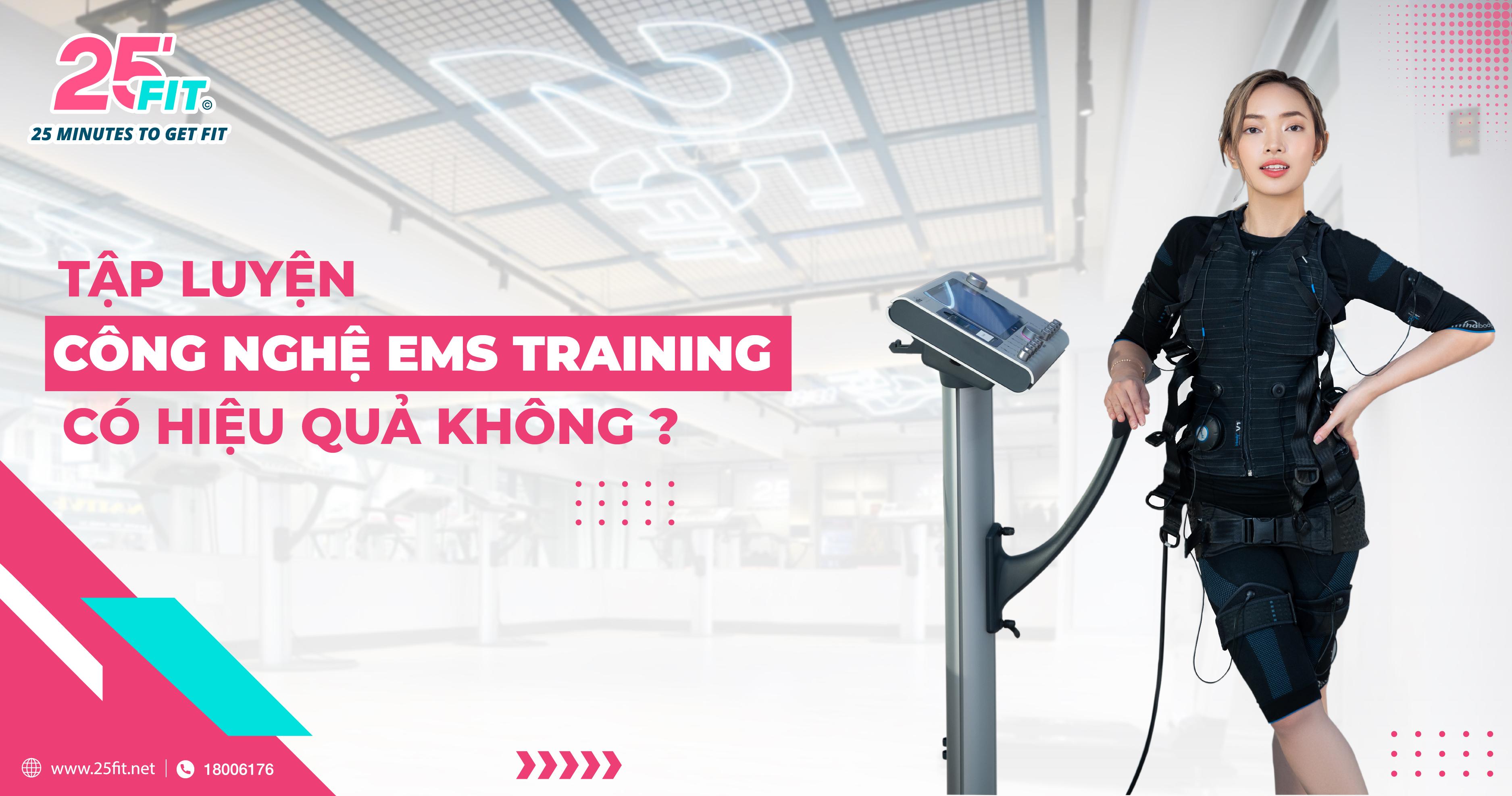Tập luyện công nghệ EMS Training có hiệu quả không?