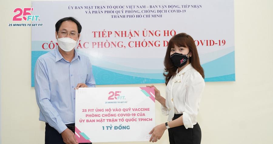 25 FIT ủng hộ 1,5 tỷ đồng vào quỹ vaccine phòng Covid-19