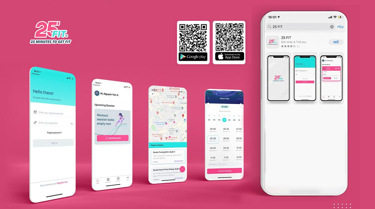 [App 25 FIT mới] Hướng dẫn cài đặt và đăng nhập tài khoản